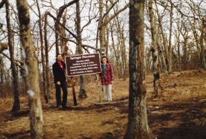 Johanna and Ron at Springer Mountain Georgia, the start of our AT journey