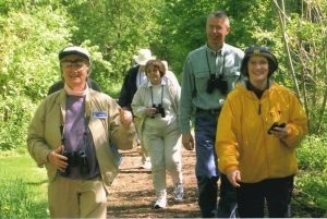 Annis (far left) leading a nature walk